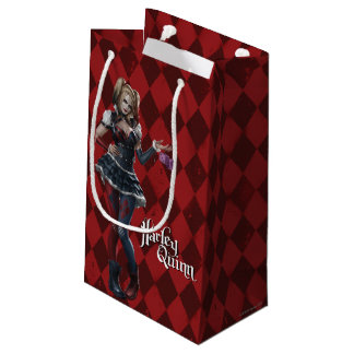 Harley Quinn With Fuzzy Dice Small Gift Bag