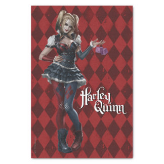 Harley Quinn With Fuzzy Dice Tissue Paper