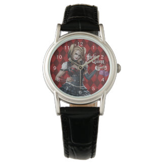 Harley Quinn With Fuzzy Dice Watch
