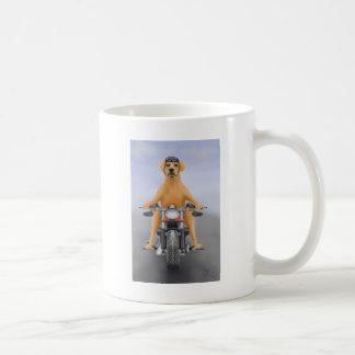 Harley riding Labrador Basic White Mug