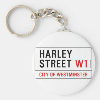Harley Street Basic Round Button Key Ring