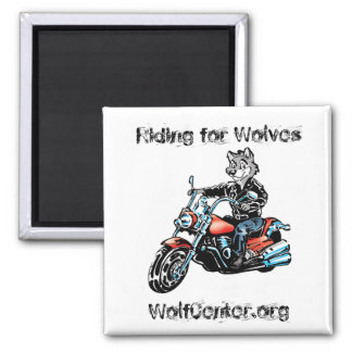 Harley Wolf Square Magnet