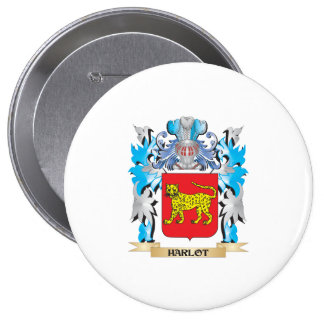 Harlot Coat of Arms - Family Crest Buttons