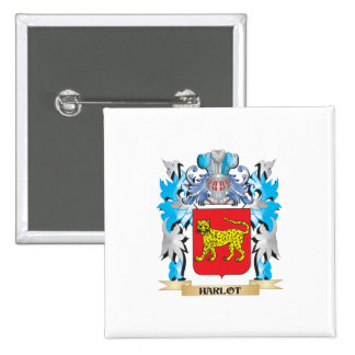 Harlot Coat of Arms - Family Crest Button