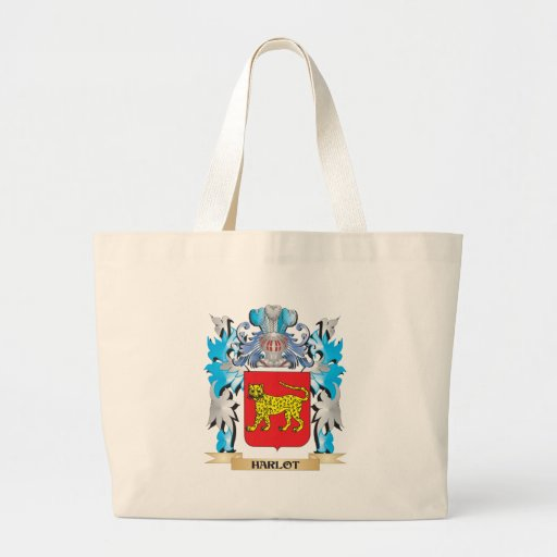 Harlot Coat of Arms - Family Crest Canvas Bag