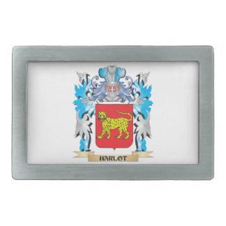 Harlot Coat of Arms - Family Crest Rectangular Belt Buckles