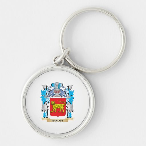 Harlot Coat of Arms - Family Crest Keychains