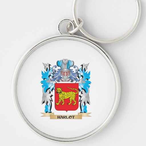 Harlot Coat of Arms - Family Crest Keychain