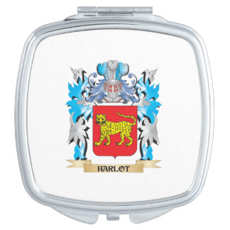 Harlot Coat of Arms - Family Crest Mirrors For Makeup