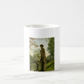 Harlow's Wooden Man Marquette, Michigan Basic White Mug