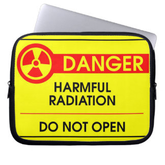 Harmful radiation danger laptop sleeve