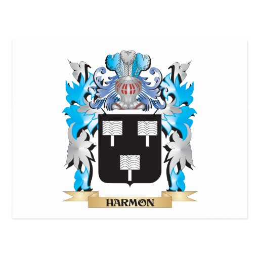 Harmon Coat of Arms - Family Crest Post Cards