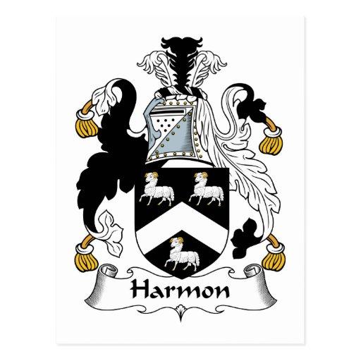 Harmon Family Crest Postcard