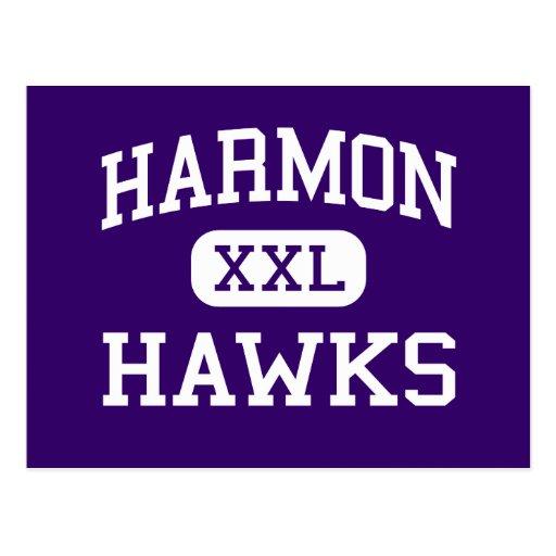 Harmon - Hawks - High School - Kansas City Kansas Postcard