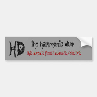 Harmonic Duo Bumper Sticker