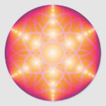Harmonic Flower Of Life Round Stickers