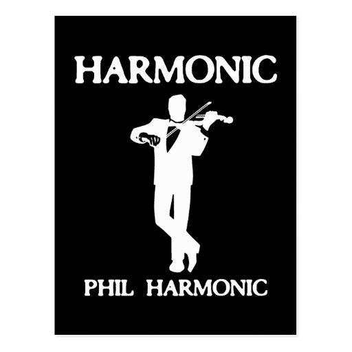 Harmonic, Phil Harmonic Post Card