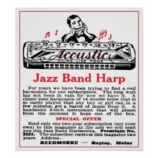 Harmonica Ad Poster
