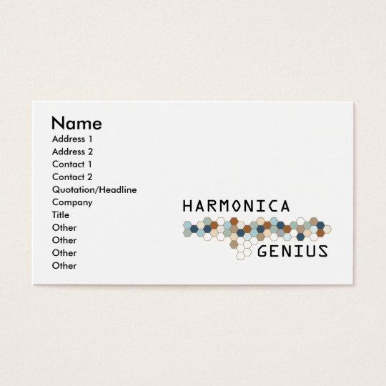 Harmonica Genius Business Card