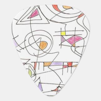 Harmonious-Abstract Art Print Plectrum