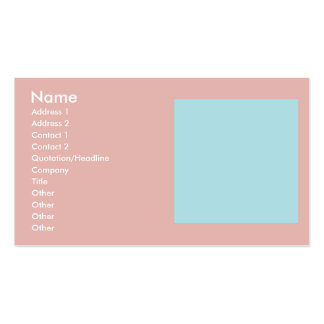 Harmonious Color Combination Mix Template Pack Of Standard Business Cards