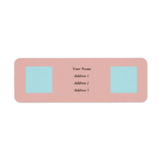 Harmonious Color Combination Mix Template Return Address Label