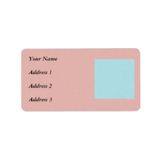 Harmonious Color Combination Mix Template Address Label