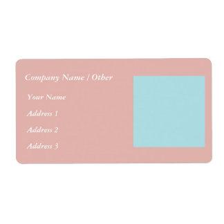 Harmonious Color Combination Mix Template Shipping Label