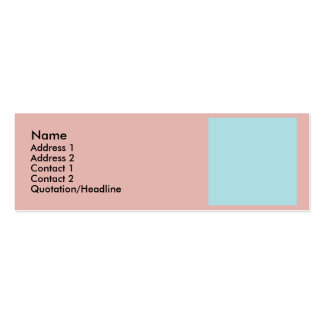 Harmonious Color Combination Mix Template Pack Of Skinny Business Cards