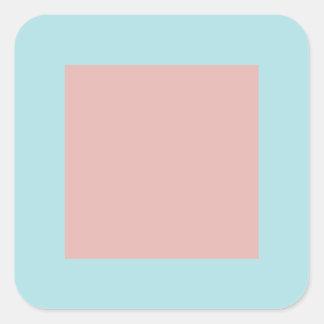 Harmonious Color Combination Mix Template Square Sticker