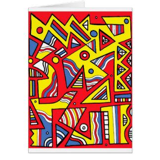 Harmonious Placid Agreeable Intuitive Greeting Card