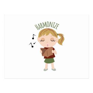 Harmonize Girl Postcard