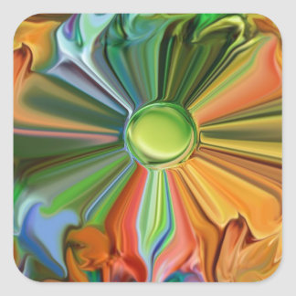 -Harmony- Abstract 46products Square Sticker