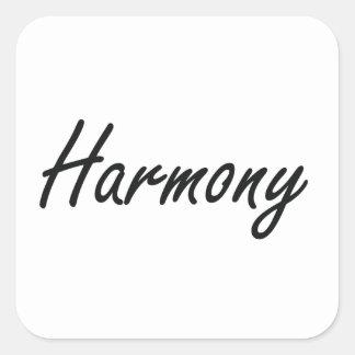 Harmony artistic Name Design Square Sticker