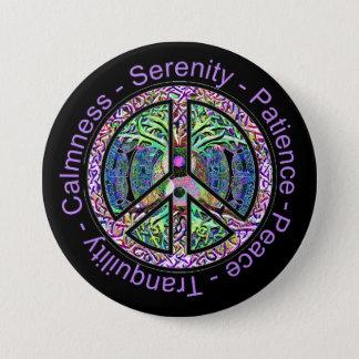 Harmony, Balance, Oneness Peace Symbol 7.5 Cm Round Badge