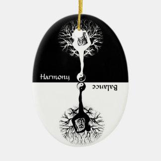 Harmony & Balance Yoga Yin Yang Christmas Ornament