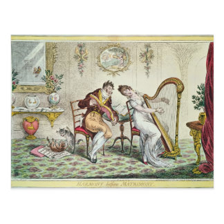 Harmony before Matrimony, 1805 Postcard