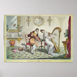 Harmony before Matrimony, 1805 Print
