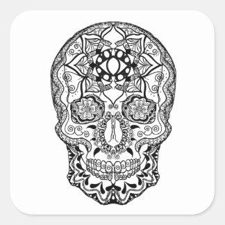 Harmony Black and White Square Sticker
