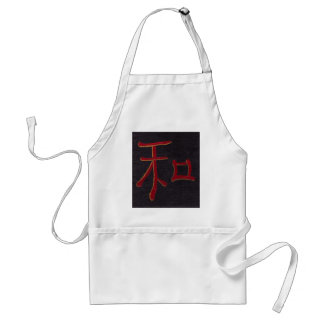 harmony blk red apron