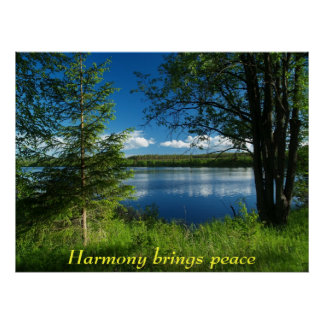 Harmony brings peace poster
