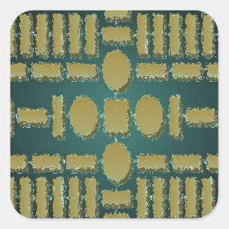 HARMONY  -  Futuristic Stepping Stone Patterns Stickers