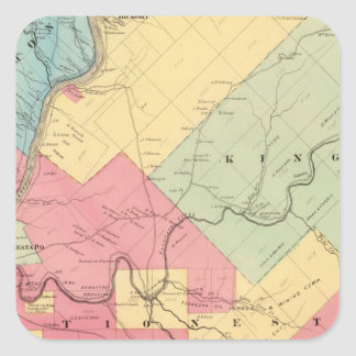 Harmony, Hickory, Kingsley, Tionesta townships Square Sticker