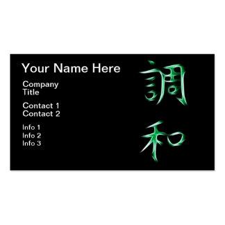 Harmony Japanese Kanji Calligraphy Symbol Pack Of Standard Business Cards