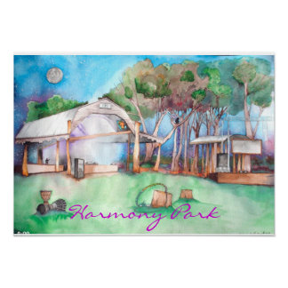 Harmony Park @ Night Posters