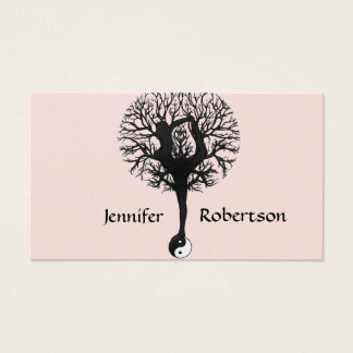Harmony, Peace and Balance Yoga Tree Business Card