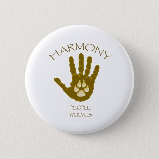 Harmony  - People - Wolves 6 Cm Round Badge
