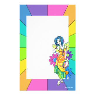"""Harmony"" Rainbow Flower Child Fairy Stationery"