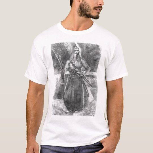 Harmony Samurai Pencil Drawing T-Shirt