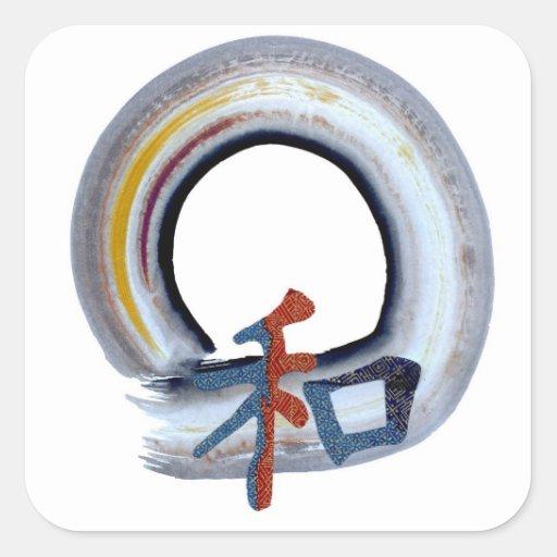 Harmony - shikiski board square sticker